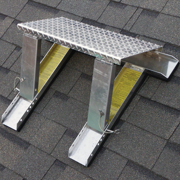 High Stepper Roof System - Work Platform and Ladder Supports, 2' x 2' - Modern - Ladders And ...