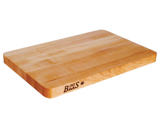 """John Boos - John Boos Chop-N-Slice Cutting Board - 18x12"""" - Prove to the world you're a grown up and throw out all your old stained and etched plastic cutting boards. This hard rock maple board meets all your adult culinary needs."""