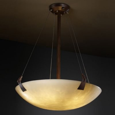 Justice Design Group Clouds CLD-9647-35-DBRZ 48 in. Pendant Bowl with Tapered Cl modern-ceiling-lighting
