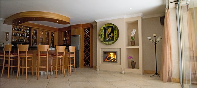 Bar And Entertainment Area Upgrade Contemporary Indoor Fireplaces Other Metro By Biofire