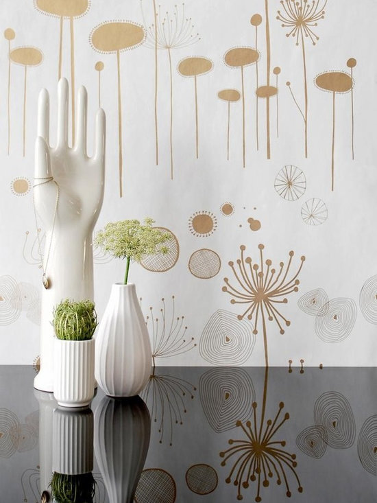 Ferm Living Fairy Flower Wallpaper - Ferm Living's Wallpaper is graphic & whimsical adding character, charm and personality to any room. Wallpaper has a striking effect and will without a doubt turn your room into a sanctuary.