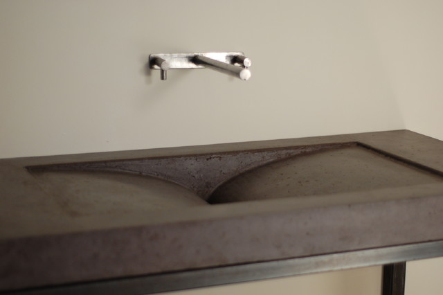 Concrete Library Sink Modern Bathroom Sinks miami