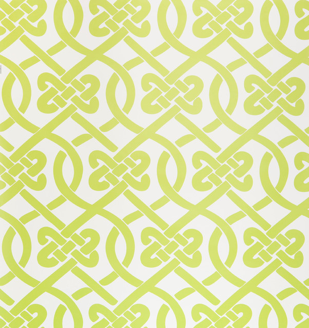 Knotted Wallpaper, Sample, Wasabi contemporary-wallpaper