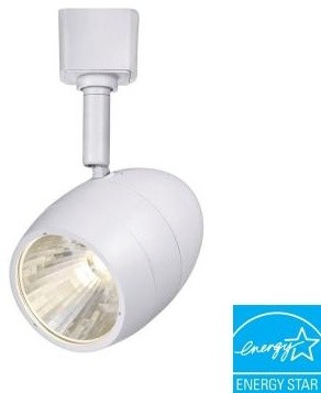 hampton bay 1 light in white led dimmable track lighting fixture