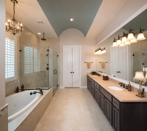 Crema marfil marble bathroom vanity countertop ideas for Best paint color for crema marfil bathroom