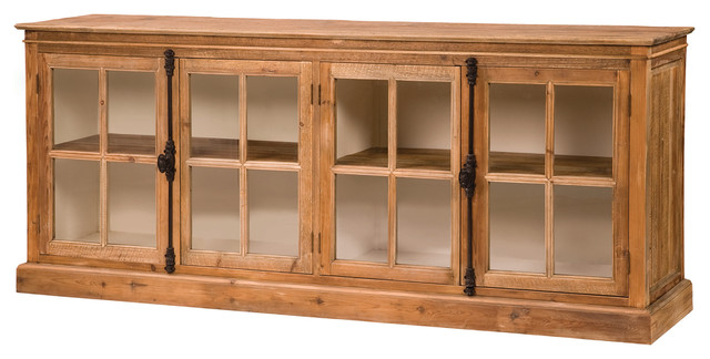 Monaco sideboard farmhouse buffets and sideboards by for Sideboard glasfront