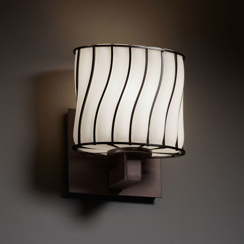 Wire Glass Modular Dark Bronze ADA Wall Sconce - Contemporary - Bathroom Lighting And Vanity ...