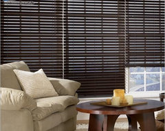 "Bali 2 1/2"" Northern Heights Shutter Style Wood Blinds From Blinds.com modern-living-room"