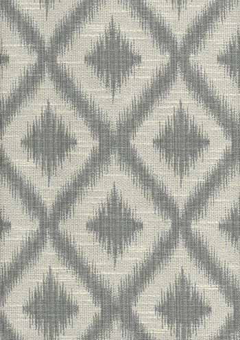 Ikat Fret Pewter Multi-Purpose Fabric modern-upholstery-fabric