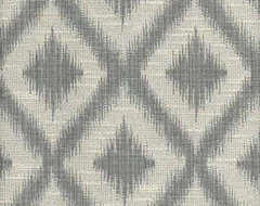 Ikat Fret Pewter Multi-Purpose Fabric modern upholstery fabric