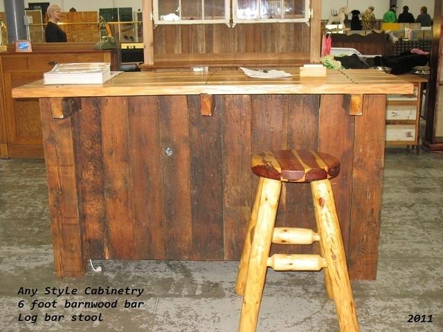 Barn Wood 6 Foot Bar Indoor Pub And Bistro Tables