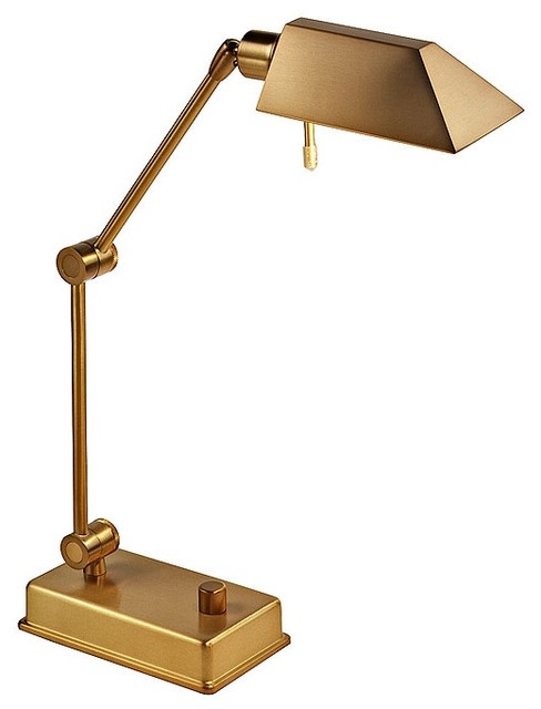 brass pharmacy halogen desk lamp contemporary table lamps by. Black Bedroom Furniture Sets. Home Design Ideas