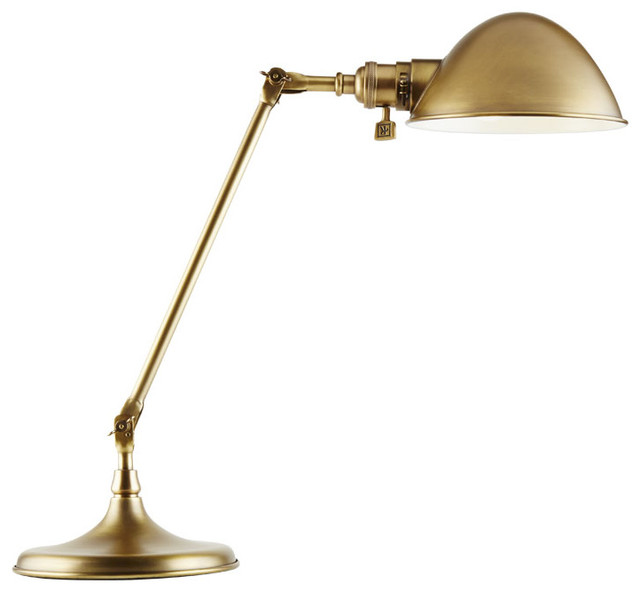 Libby Desk Lamp, Aged Brass - Traditional - Desk Lamps ...