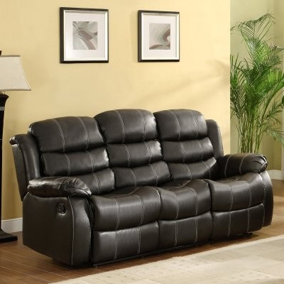 Centerton Leather Dual Reclining Sofa - Black modern sofas