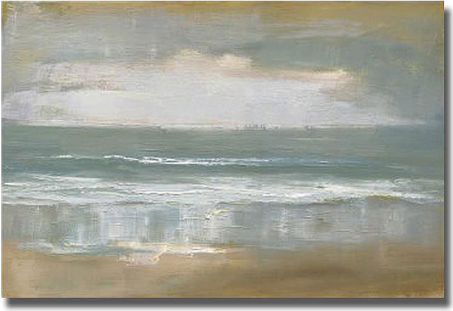 """Shoreline"" Unframed Canvas Art by Caroline Gold contemporary-artwork"