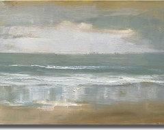 """Shoreline"" Unframed Canvas Art by Caroline Gold contemporary-artwork"