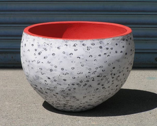 Small Round Speckled Planter -