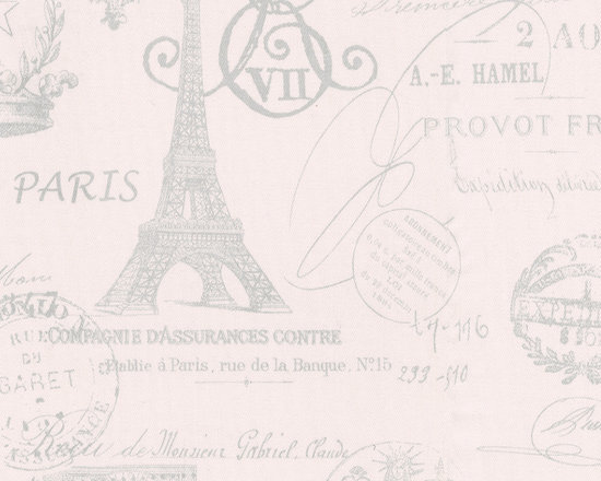 Paris French Script Fabric - Ooh la la, from fabulous Paree, our exclusive French Script is featured on a pale blush pink background with soft silver gray script. From the Eiffel Tower to vintage postmarks this incredible fabric conjures up visions of Paris. It's a perfect companion to our French Damask.