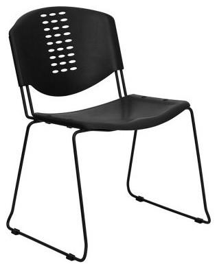 Hercules Series Stack Chair - Black modern-chairs
