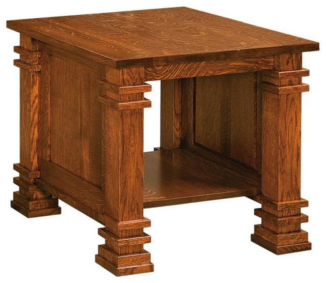End Table in Michaels Cherry Finish contemporary-side-tables-and-end-tables