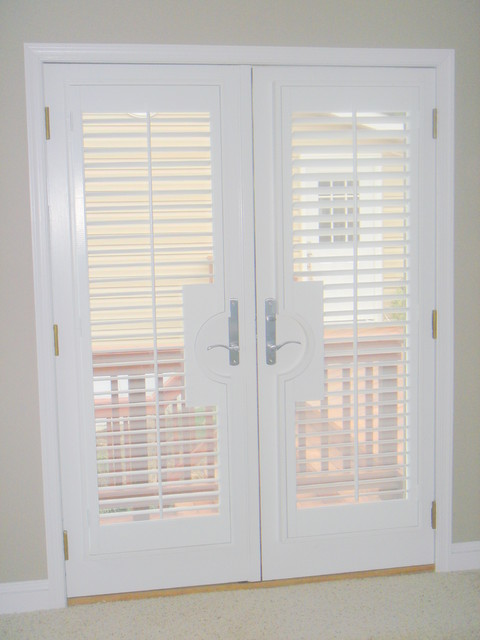 Plantation Shutters On Doors Jacksonville By The Louver Shop