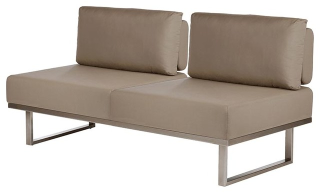 Barlow Tyrie - Mercury Couch Without Arms - Taupe modern-outdoor-sofas