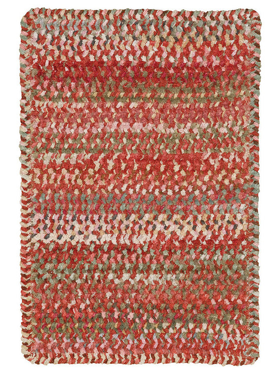 Grand-Le-Fleur rug in Zinnia - Grand-Le-Fleur by Capel Rugs contains variegated cotton yarns in a chunky, double chenille construction.  The rich color palette was inspired by nature.