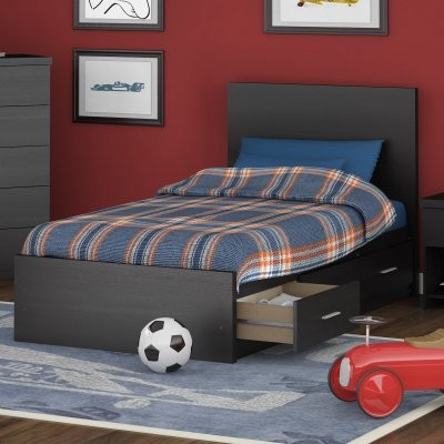 Sonax Willow Twin Storage Platform Bed - Ravenwood Black modern-kids-beds