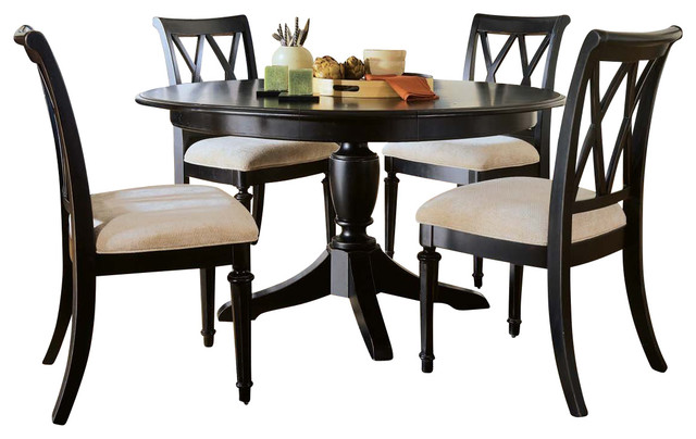 American Drew Camden Dark Round Dining Set Contemporary Furniture By Ma