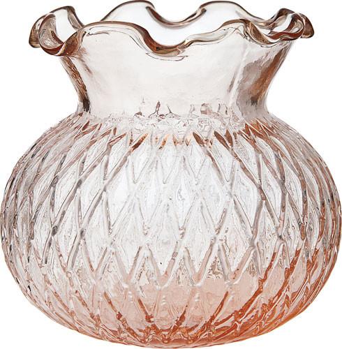 Vintage Pink Glass Vase traditional-vases