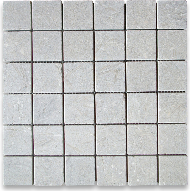 Seagrass 2 x 2 Square Mosaic Tile Tumbled - Limestone from Turkey mosaic-tile
