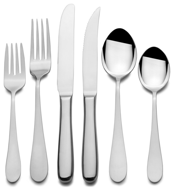Maison Luxe Classique 18 10 79 Piece Flatware Set Contemporary Flatware By
