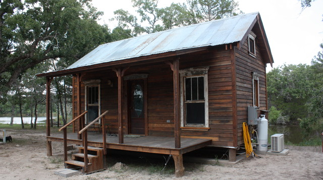 Tiny Texas Lake House eclectic-exterior