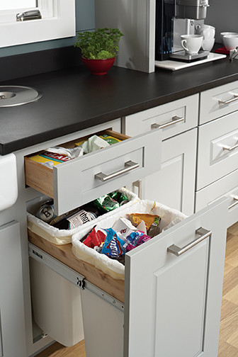 Trash Basket Pull Out - Kitchen Drawer Organizers - minneapolis - by Mid Continent Cabinetry