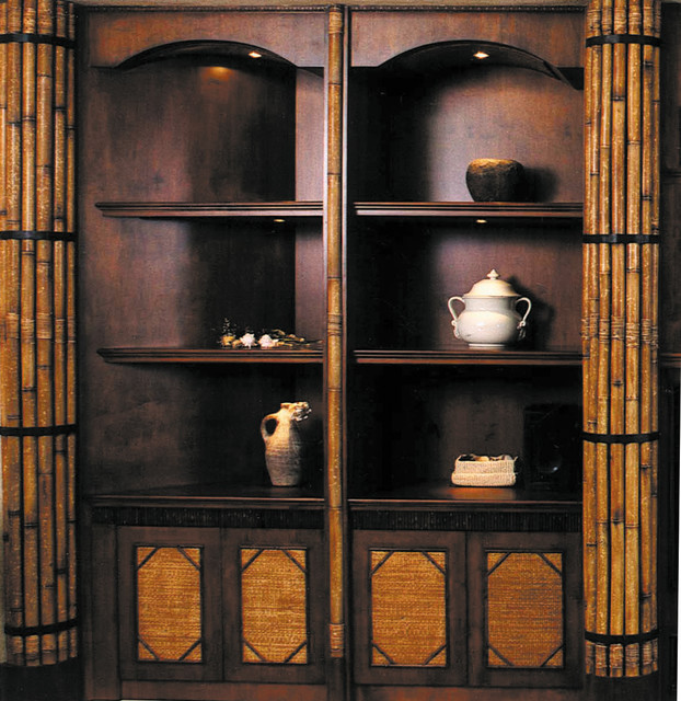 Bamboo built in wall unit