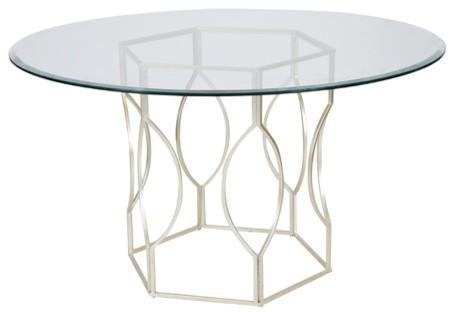 abigail gold leafed dining table base only modern table tops and bases