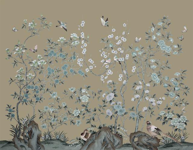 handpainted silk wallpaper - Asian - Wallpaper - other ...