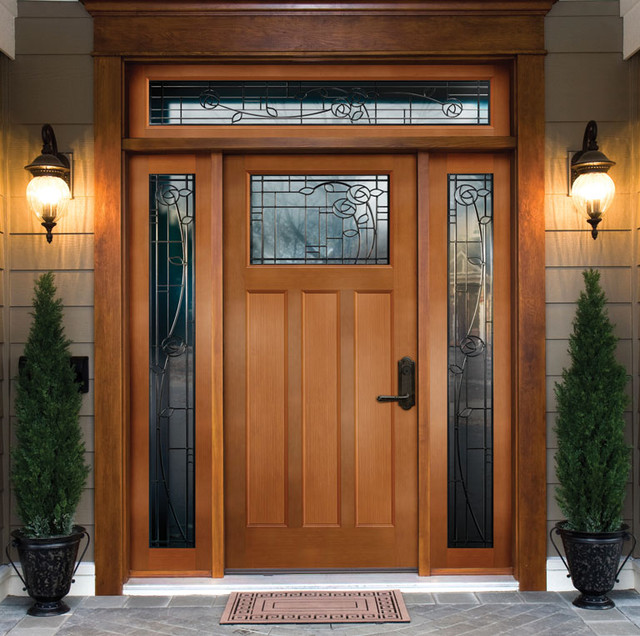 Front doors creative ideas front door with window for Entry door with side windows