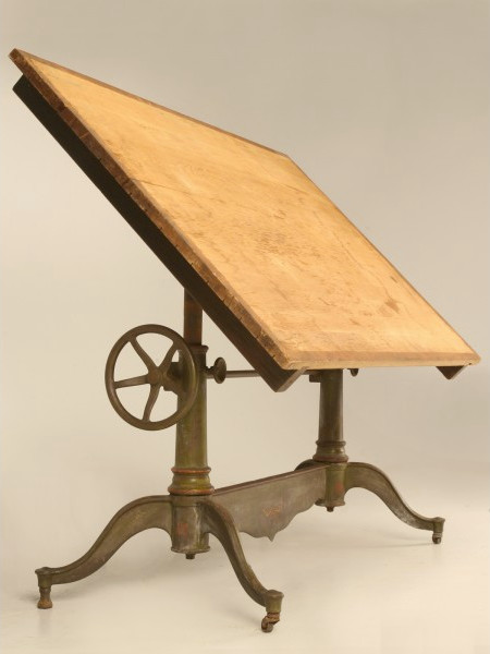 Antique American Drafting Or Drawing Table Traditional