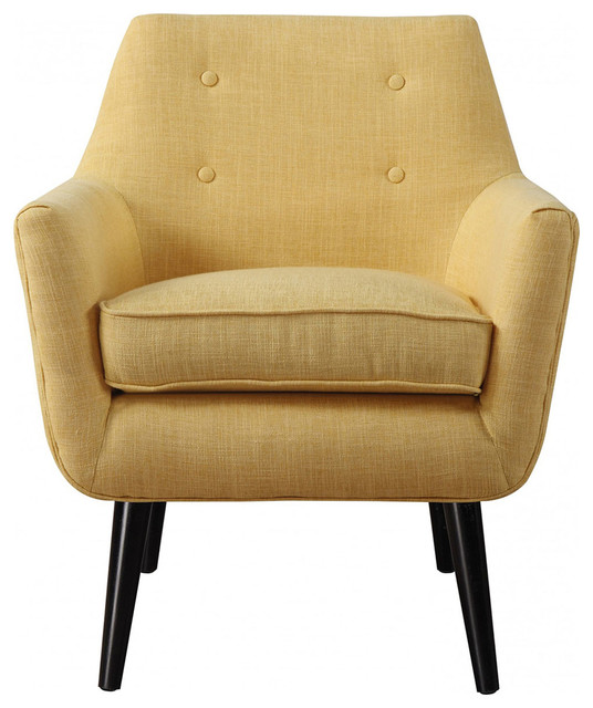 TOV Furniture Clyde Mustard Yellow Linen Chair TOV A38 Y