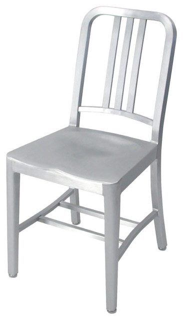 Emeco Navy Chair Armless - finish: brushed modern chairs