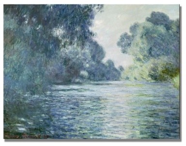 Branch of The Seine Near Giverny Canvas Art by Claude Monet modern-artwork