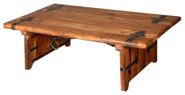 Rustic Reclaimed Wood Industrial Iron Hastings Coffee Table Industrial Coffee Tables
