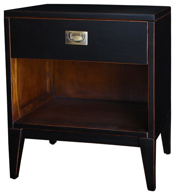 Black Petra Lacquer Nightstand asian-side-tables-and-end-tables
