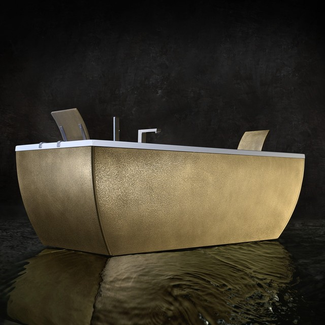 Kali Metal Free Standing Bathtub contemporary-bathtubs