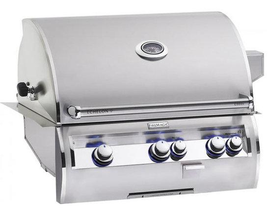 Fire Magic E660i Built-In Gas Grill - Fire Magic Echelon Diamond E660i Series Built-In Gas Grill With Interior Lighting & Rotisserie.