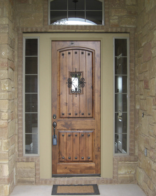 Estancia entry doors rustic front doors other metro for Country front doors