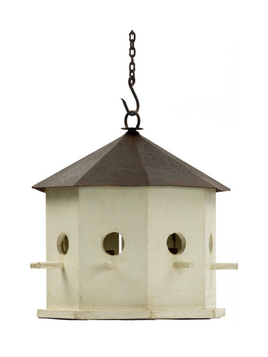 Go Home - Birdfeeder Light - We love this charming and unique bird feeder! Hang it from your back yard tree and the birds will flock to it during the day and it will shed romantic light in the evening!