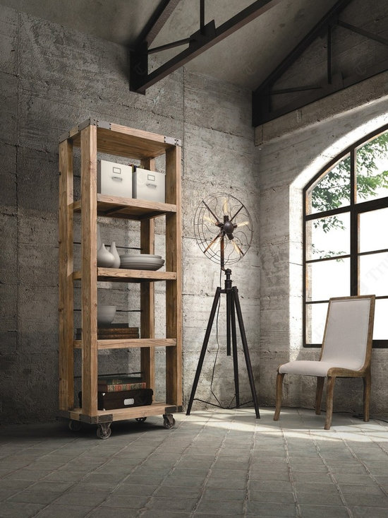 Industrial Style Bookshelves For A Simple, Contemporary Statement Piece - Industrial Style Bookshelves For A Simple, Contemporary Statement Piece - See more: http://www.homethangs.com/blog/2014/08/industrial-style-bookshelves-for-a-simple-contemporary-statement-piece/