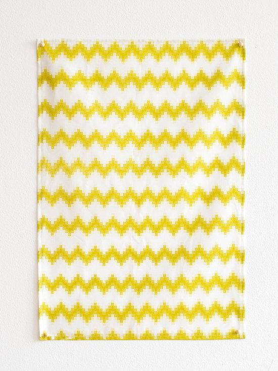 Chevron Pixel Tea Towel -